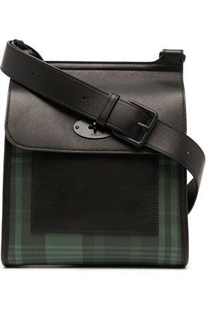 MULBERRY Umhängetaschen - Antony tartan-checked grained leather shoulder bag