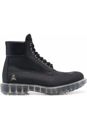 Philipp Plein Hunter lace-up leather boots