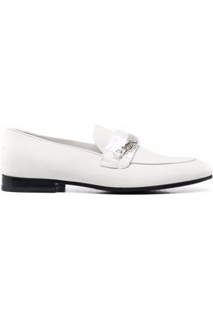 Philipp Plein Chain-embellished leather loafers