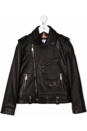 Philipp Plein Mädchen Lederjacken - Iconic Plein biker jacket