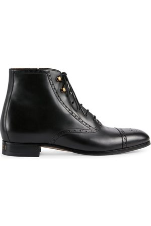 Gucci Brogue-detailed ankle boots