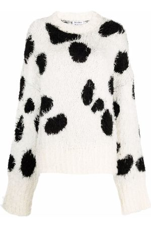The Attico Cow-print knitted jumper