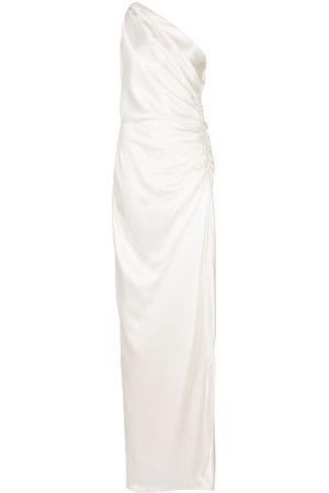 Michelle Mason One-shoulder silk gown