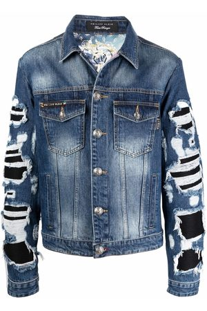 Philipp Plein Baroque-print denim jacket