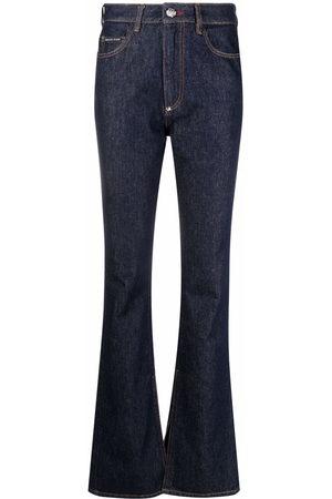 Philipp Plein Damen High Waisted - High-waisted flared jeans