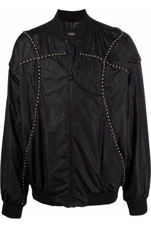 Fendi Removable-sleeves bomber jacket
