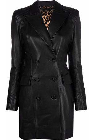 Philipp Plein Fitted leater coat