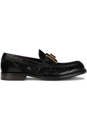 Dolce & Gabbana Logo-plaque leather loafers