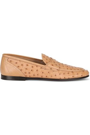 Dolce & Gabbana Textured leather loafers