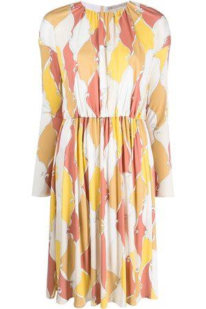 Emilio Pucci Losanghe print pleated dress