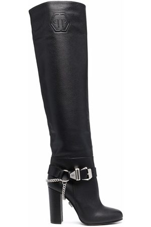 Philipp Plein Buckle-detail knee-high boots