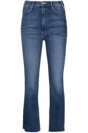 Mother Ankle Fray cropped-leg jeans