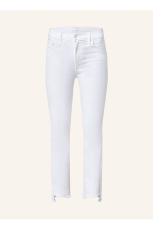 MOTHER Straight Jeans Insider Crop Step Fray weiss