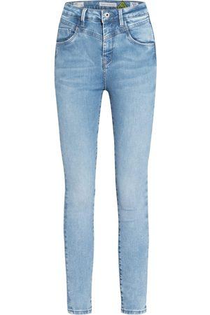 Pepe Jeans Damen Stoffhosen - Skinny Jeans Dion Retro blau