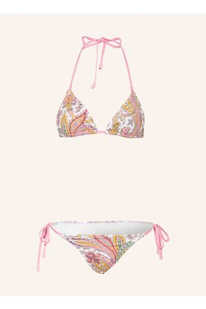 Zimmermann Damen Bikinis - Triangel-Bikini Teddy weiss