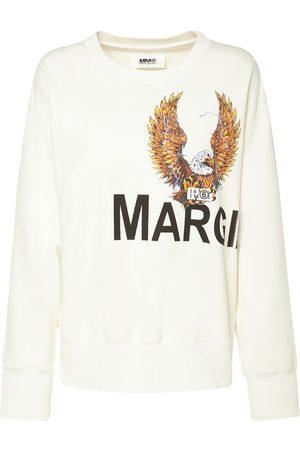 MM6 MAISON MARGIELA Sweatshirt Aus Baumwolljersey Mit Adlerdruck