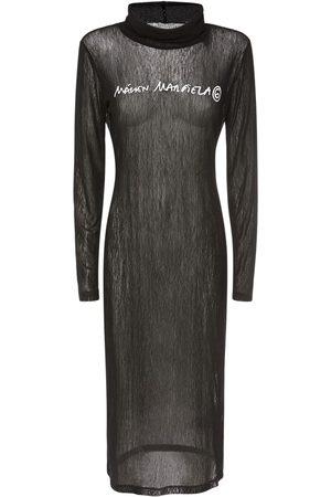 MM6 MAISON MARGIELA Bedrucktes Kleid Aus Jerseymesh