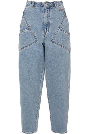 Serafini Hoch Geschnittene Jeans Aus Baumwolldenim