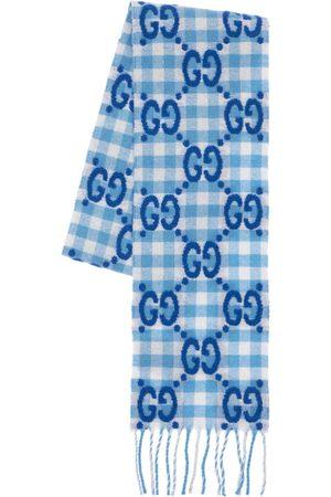 Gucci Schal Aus Wollmischung Mit Gg-logo