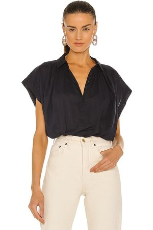 NILI LOTAN Normandy Blouse in - Navy. Size L (also in XS, S, M).