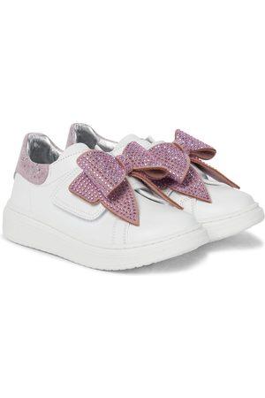 MONNALISA Baby Verzierte Sneakers aus Leder