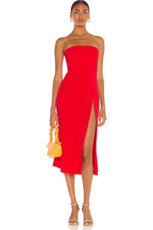 Amanda Uprichard Mandy Midi Dress in - Red. Size L (also in XS, S, M).