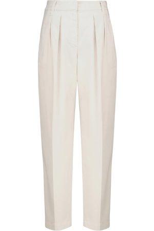 Brunello Cucinelli High-Rise-Hose aus Stretch-Baumwolle