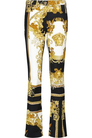 VERSACE Flared Jeans mit Barocco-Print