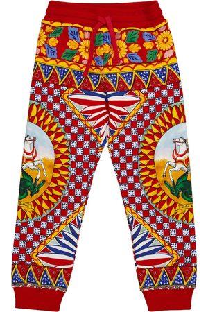 Dolce & Gabbana Bedruckte Jogginghose aus Baumwolle