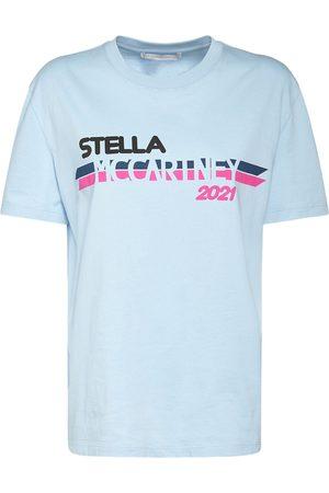 Stella McCartney Damen Shirts - T-shirt Aus Baumwolle Mit Logodruck