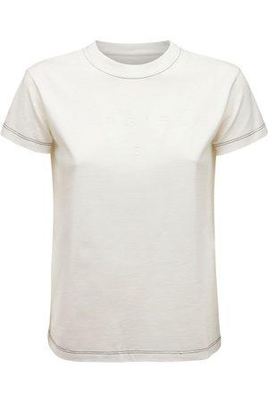 MM6 MAISON MARGIELA T-shirt Aus Baumwolljersey Mit Gesticktem Logo
