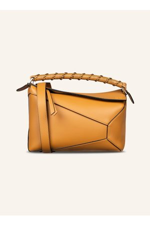 Loewe Damen Clutches - Handtasche Puzzle Edge beige