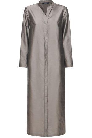 Max Mara Damen Lange Kleider - Langes Kleid Aus Seidenshantung