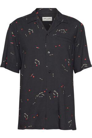Saint Laurent Herren Freizeit - Bedrucktes Hemd Aus Viskose