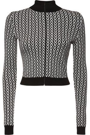 VALENTINO Damen Sweatshirts - Sweatshirt Aus Wolljacquard