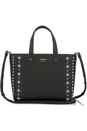 Jimmy Choo Pegasi star-embellished textured-leather tote