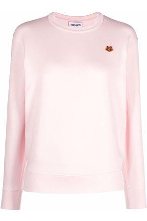 Kenzo Tiger-crest crewneck cotton sweatshirt