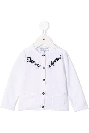 Emporio Armani Strickjacken - Embroidered logo cardigan