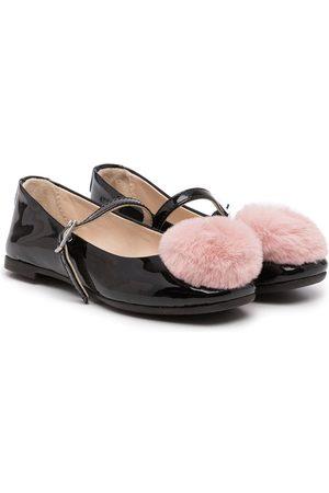 Emporio Armani Mädchen Ballerinas - Pom pom-detail ballerina shoes