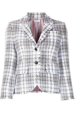Thom Browne Tartan-check tweed jacket