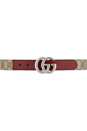 Gucci Jungen Gürtel - GG logo-plaque belt