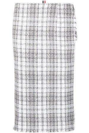 Thom Browne Damen Bedruckte Röcke - Tartan-check pencil skirt