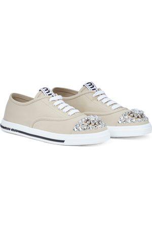 Miu Miu Verzierte Sneakers