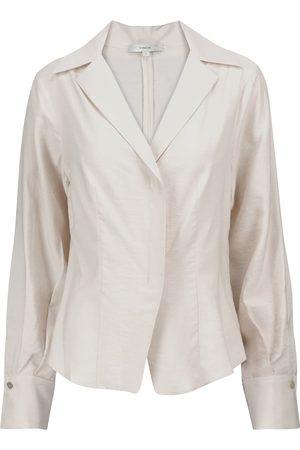 Vince Damen Lange Ärmel - Bluse mit V-Ausschnitt