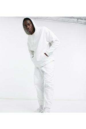 ASOS Herren Jogginghosen - Organic oversized tracksuit with hoodie & oversized joggers in white marl