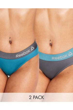 Reebok 2 pack sports brief in neon red & cold grey-Multi