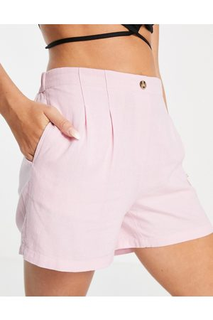 Vero Moda High waisted tailored shorts co-ord in pink