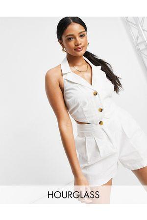 ASOS Damen Westen - Hourglass suit waistcoat in white