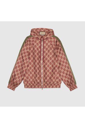 Gucci Damen Outdoorjacken - Jacke aus Seide mit GG Supreme-Print