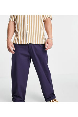 Reclaimed Inspired casual relaxed trouser in dark stone-Neutral